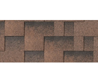 Гибкая черепица IKO Skyline Tile Dual Brown Ultra