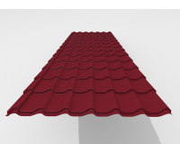 Металлочерепица Arcelor (Бельгия) Rough texture MPE 0,45 мм RAL 3276 (zn 180гр/м2)