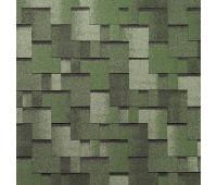 Битумная черепица Тегола NORDLAND Альпин Зеленый с отливом
