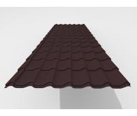 Металлочерепица Arcelor (Бельгия) Rough texture MPE 0,45 мм RAL 8637 (zn 180гр/м2)
