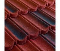 Черепица композитная MetroBond цвет Красно-черный