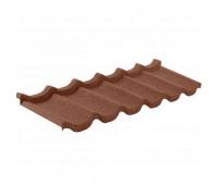 Одноволновый лист композитной черепицы Grand Line цвет Шоколад