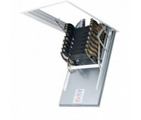 Ножничная металлическая лестница Факро LSF, размер 70x110x300 70x110x300 см.